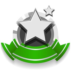 Logo design with ribbon and star vector image vector image