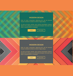 modern design web pages set vector image vector image