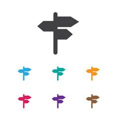 of travel symbol on street vector image
