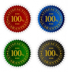 set of tags satisfaction guaranteed vector image