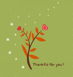 Thankful for you vector image