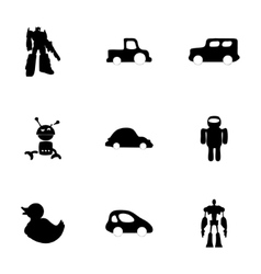 toys icons set vector image vector image