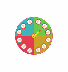 Twister classic party game vector