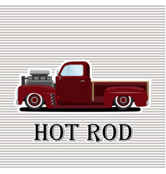 vintage car a isolated on vector image vector image