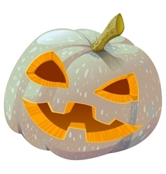 Scary pumpkin lantern for halloween vector