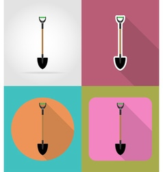 Garden tools flat icons 01 vector