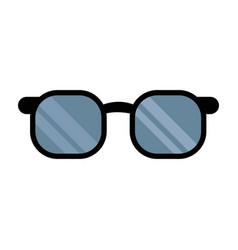 glasses accessorie doctor health medical vector image