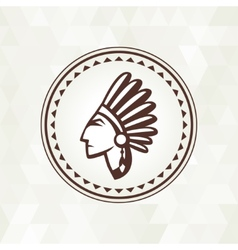 Ethnic background with indian profile in navajo vector