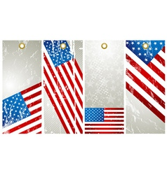 Four labels with elements of usa banner vector