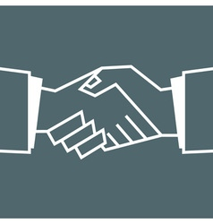 Flat handshake icon business for your design vector
