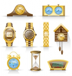 watches icon set vector image