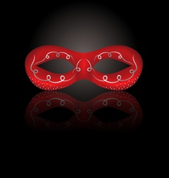 Theater red mask with reflection on black vector