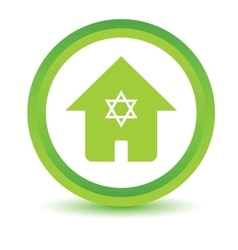 Jewish house volumetric icon vector