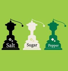 Vintage Salt Sugar and Pepper collection vector image