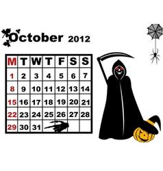 October calendar 2012 vector