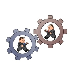 Businessmen in cogwheel machine 2 vector