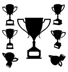 Sport cups silhouettes vector