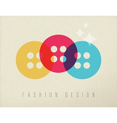 Fashion design sewing button concept color design vector image