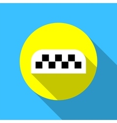 Taxi call icon flat vector