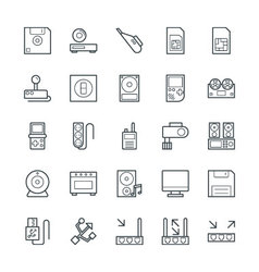 Electronic cool icons 7 vector