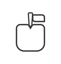 Pixel apple icon healthy food design vector