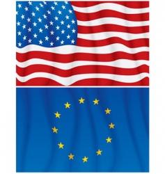 american european vector image