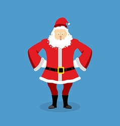 Angry santa claus aggressive grandfather with vector