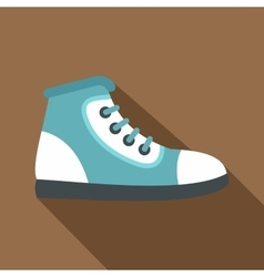Blue athletic shoe icon flat style vector
