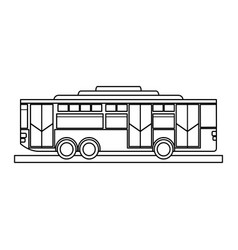 Bus sideview icon imag vector