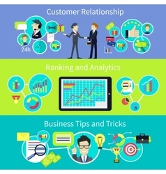 Business customer relationship tips and trips vector