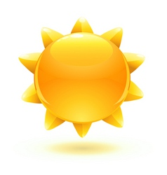 cartoon summer sun vector image