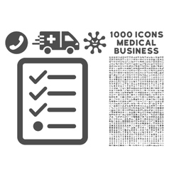 Checklist icon with 1000 medical business vector