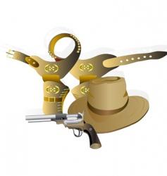Cowboy set vector