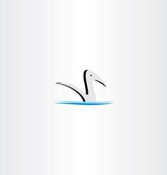 duck in water logo sign element vector image vector image