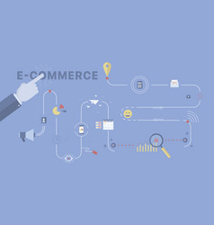 e-commerce process background vector image vector image