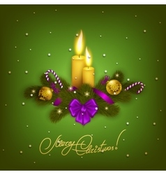 Elegant christmas background with balls vector