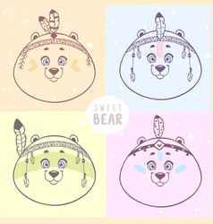 four bears vector image vector image