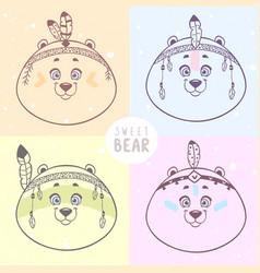four bears vector image