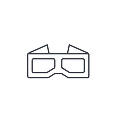 glasses for movie thin line icon linear vector image vector image