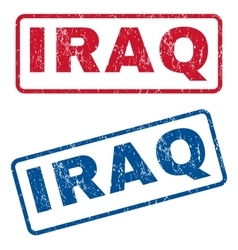 Iraq rubber stamps vector