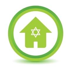 Jewish house volumetric icon vector