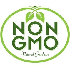 Non gmo natural goodness vector