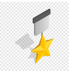 Order with star isometric icon vector