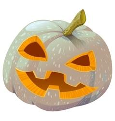 Scary Pumpkin lantern for Halloween vector image