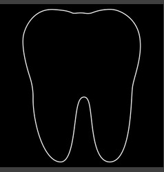 tooth the white path icon vector image vector image