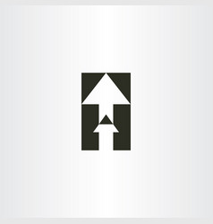 up arrow sign icon vector image
