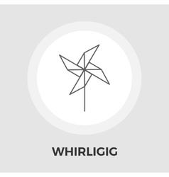 Whirligig flat icon vector image