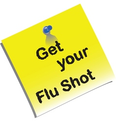 Flu shot memo preview vector