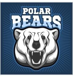 Polar bear head mascot - vector