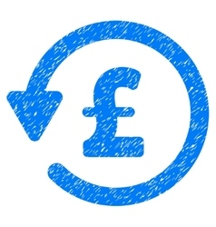 Pound rebate grainy texture icon vector